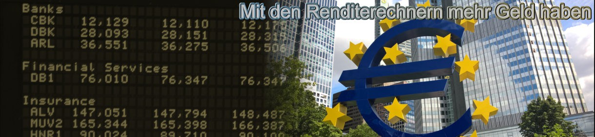 Finanzrechner - höhere Zinsen und weniger Gebühren bei Geld und Börsengeschäfteb